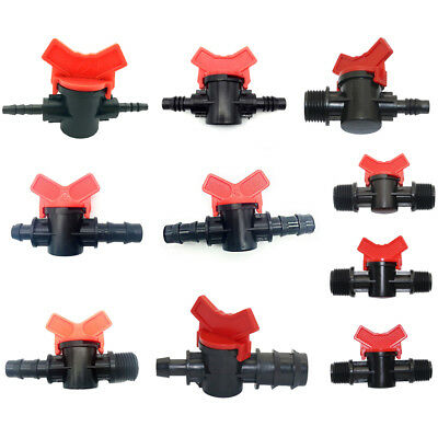 Plastic Shut-off Valve Garden Lawn Irrigation Hose Connector Flow Control Switch