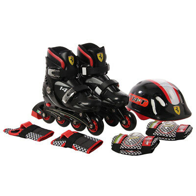 Kids Inline Skates Roller Blades Skates Combo Set + Safety Gear Pad Guard Helmet