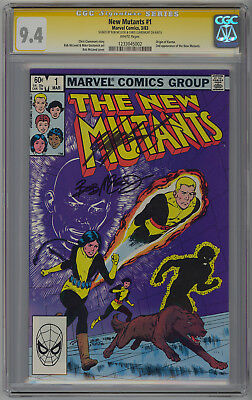 New Mutants 1 CGC 9.4 SS sign 2x by Bob McLeod and Chris Claremont. White Pages.