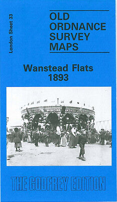 Old Ordnance Survey Map Wanstead Flats 1893 Aldersbrook Forest Gate Leytonstone