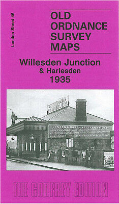 Old Ordnance Survey Map Willesden Junction Harlesden 1935 Goodhall Street