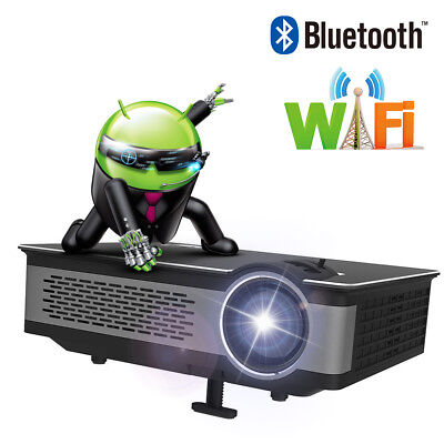 Brand 1920x1080P Projector home Cinema wireless HD Bluetooth WIFI Android 4.4