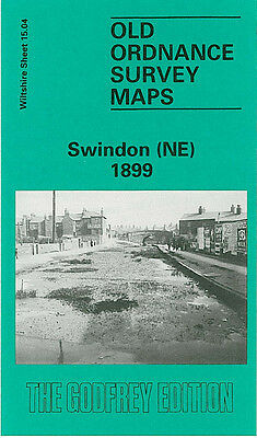 Old Ordnance Survey Map Swindon Ne 1899 Fleet Street Gorse Hill Highworth Junc