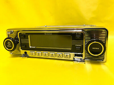 NEU CHROM RETRORADIO Oldtimer Youngtimer Radio CD Bluetooth USB Retro MASSIV MP3