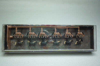 Vintage Merten Figuren Box - Spur Z - 12 Warmblut-Pferde  - Box 2408 (1.fig-58)