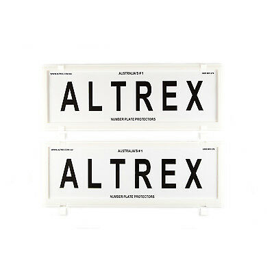 6 figure Number Plate Covers White without Lines Altrex 6NLW