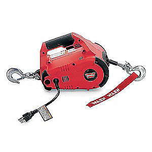 WARN Portable Electric Winch,HP,115VAC, 885000