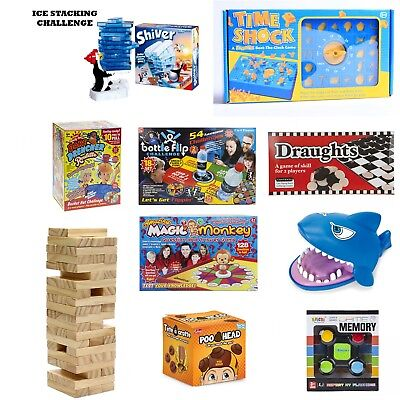 Kids Games Snakes & Ladders Ludo Time Shock Shark Attack Draughts Bottle Flip +