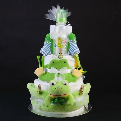 Freddie Frog Unisex Bathtime Baby Shower Gift Nappy Diaper Cake for Mum To Be