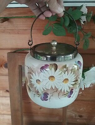 Delightful Biscuit Jar Daisies  Shabby  Chic Or Country Unusual Vintage Charm ♡