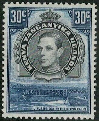 Lot 4333 - K.U.T. - 1938 30c black and blue KGVI mint hinged definitive stamp