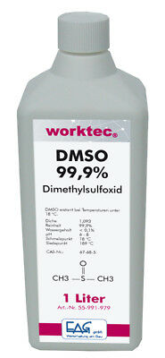 DMSO 99,9%, 1 bis 3 Liter, Dimethylsulfoxid in 1000 ml HDPE Flasche reinst