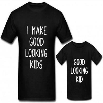 Family Matching Outfits Clothing I Make Good Looking Father Son Shirt Cotton ...