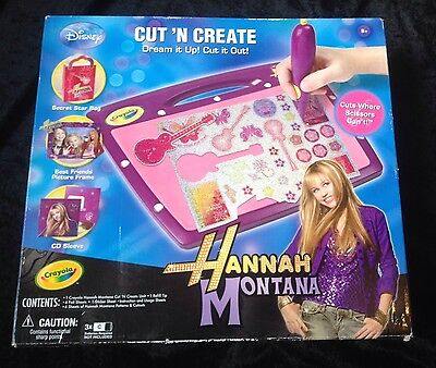 Hannah Montanna Cut N Create Game ~ Toy ~ Teenage Fashion & Design ~ Kids Craft