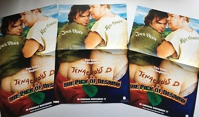Tenacious D And The Pick Of Destiny Original A3 Film Promotional Posters