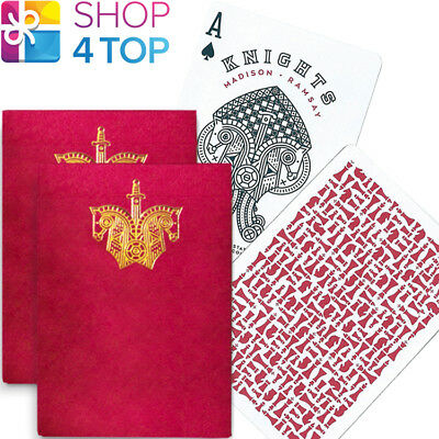 2 Decks Ellusionist Knights Red Playing Cards Madison Ramsay Chess Magic Tricks
