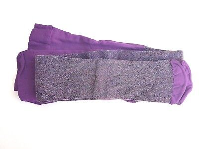 Girls Purple Sparkley Tights, age 2-3