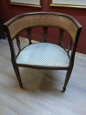 a lovely mahogany  inlaid desk  armchair  in excellent condition