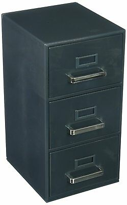 File Cabinet 3 Drawer Storage Document Holder Organizer Box Business Office Home