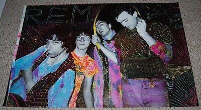 R.E.M. II REM Group Pose Poster 1985 Artemis Michael Stipe Peter Buck