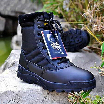 a7dd2160e2e1 Men's Military Tactical High top Boots Desert Combat Army Hiking Patrol  Shoes