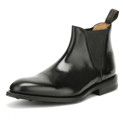 Loake Mens Handcrafted Black Chelsea Ankle Boots Goodyear Welted Leather Shoes
