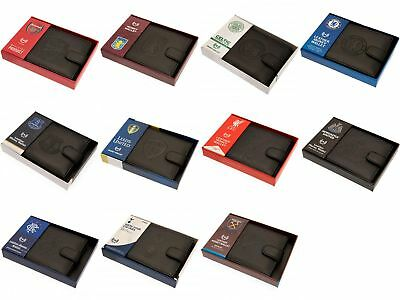 Various Football Club Official Leather Wallet RFID Protection Team Crest Badge