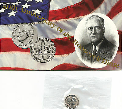 1996 W Uncirculated With Coa Roosevelt Dimes Nice Coin Still In Mint Cello L@@k