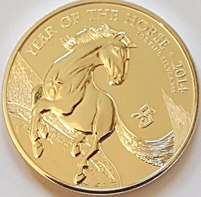 2014 UK Great Britain Silver Lunar Year of the Horse 1oz Bullion Coin Royal Mint
