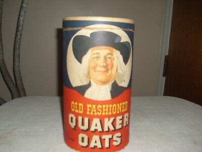 Old Fashioned  Quaker Oats 42oz 1980's cardbroad round container