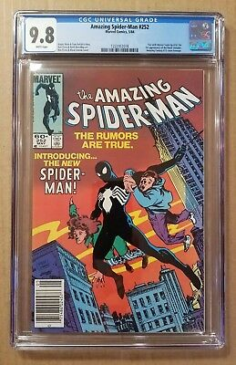 THE AMAZING SPIDER-MAN #252 CGC 9.8 KEY FIRST BLACK COSTUME (May 1984, Marvel)