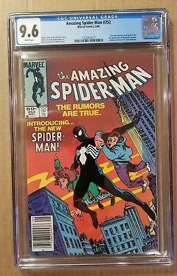THE AMAZING SPIDER-MAN #252 CGC 9.6 KEY FIRST BLACK COSTUME (May 1984, Marvel)