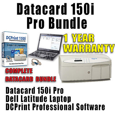 Datacard 150i Embosser + LAPTOP BUNDLE + SUPPLIES BUNDLE + SHIPPING TO LONDON UK