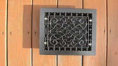 Antique/vintage Rectangular Ornate Cast Iron Floor Register Grate,vent