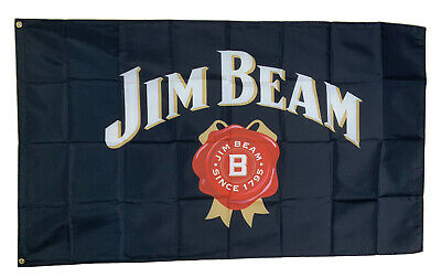 Jim Beam Logo 3x5ft Flag Banner Bar Promotion Tiki Decor Man Cave Whiskey Party