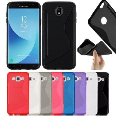 S-Line Soft Silicon Gel Case Cover For Samsung Galaxy J5 2017 +Free Screen Guard