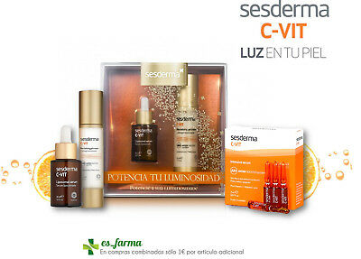 Sesderma C-Vit Ampollas Pack Serum 30Ml Gel Crema 50Ml Cvit Antiox Luminosidad
