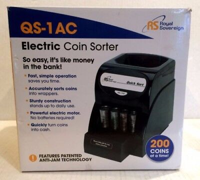 Royal Sovereign 200 Coin Electric Coin Sorter QS-1AC