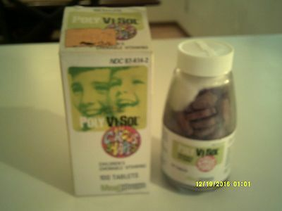 Vintage POLY-VI-SOL CIRCUS SHAPES CHEWABLE VITAMINS New In Box!