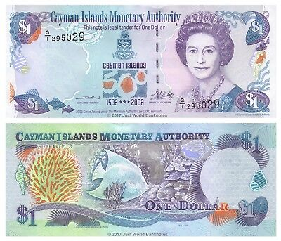 Cayman Islands $1 Dollar 2003 Commemorative P-30a Banknotes UNC