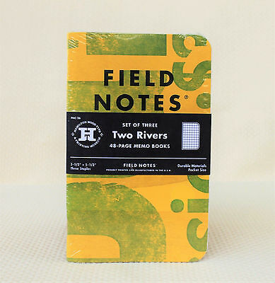 Field Notes Two Rivers Limited Edition (Spring 2015) Notebook 3-Pack