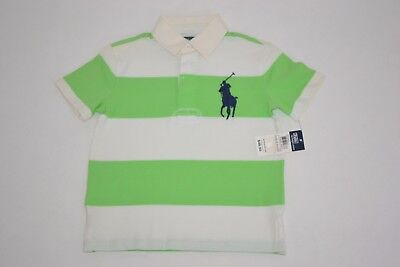 New $49.50 Ralph Lauren Boys Big Pony Striped Rugby Shirt Top Size 4T