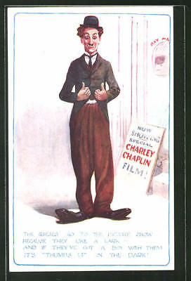 AK Schauspieler Charlie Chaplin, The Girlies go to the Picture Show...