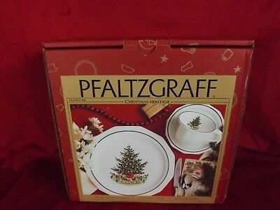 Vintage Pfaltzgraff Christmas Heritage 3 Piece Setting Plate Saucer Cup 1997