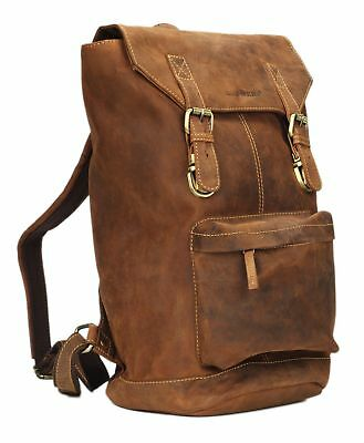 GREENBURRY Vintage revival pelle zaino backpack marrone uomo donna lederrucks