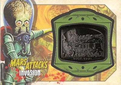 2013 Topps MARS ATTACKS INVASION Medallion Relic card MM-1 THE INVASION BEGINS