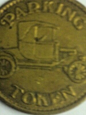 Parking Token with Model T Car and Eagle