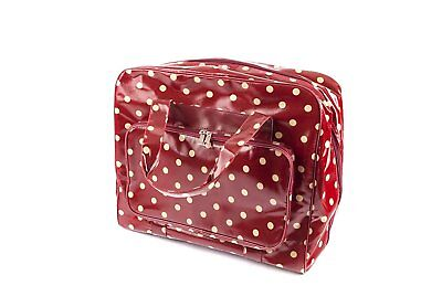 Sewing Machine Bag (PVC) - Burgundy Spot - Hobbygift - MRB.003
