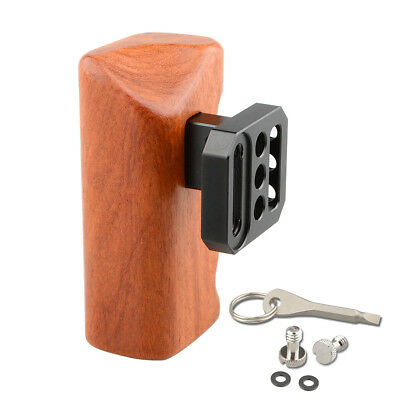 "CAMVATE Wood Wooden Handle Grip 1/4""-20 threaded holes for Panasonic GH Cage"