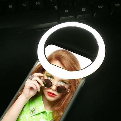 Portable Selfie Ring  LED Fill Light Lamp Camera Photography for iPhone Samsung